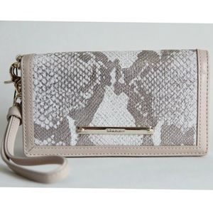 BRAHMIN DEBRA PYTHON EMBOSSED LEATHER WRISTLET